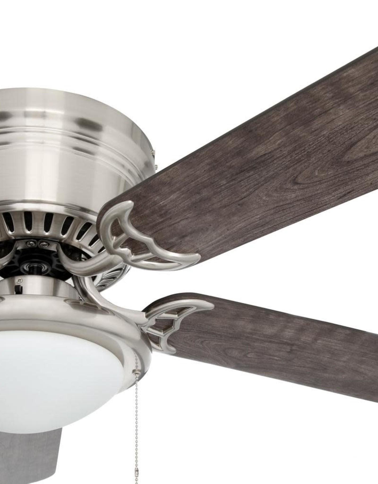 Hugger 56 in. LED Brushed Nickel Ceiling Fan