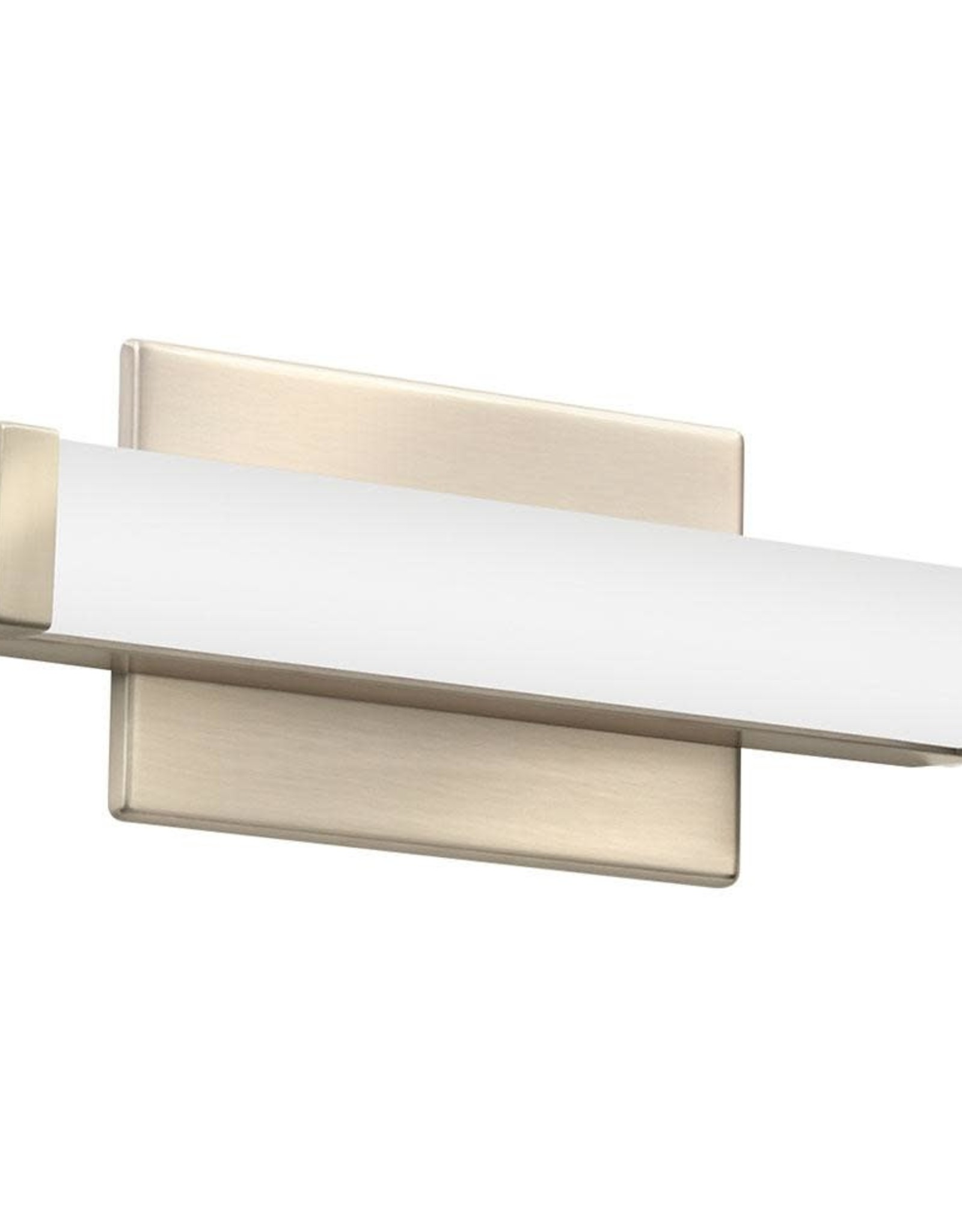 Lithonia Lighting 12 in. Brushed Nickel LED Vanity Light Bar Switchable Light Color