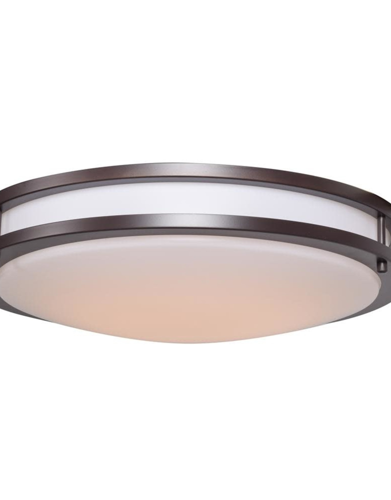 Solero 6-Light Bronze Flushmount Light with Acrylic Lens Diffuser