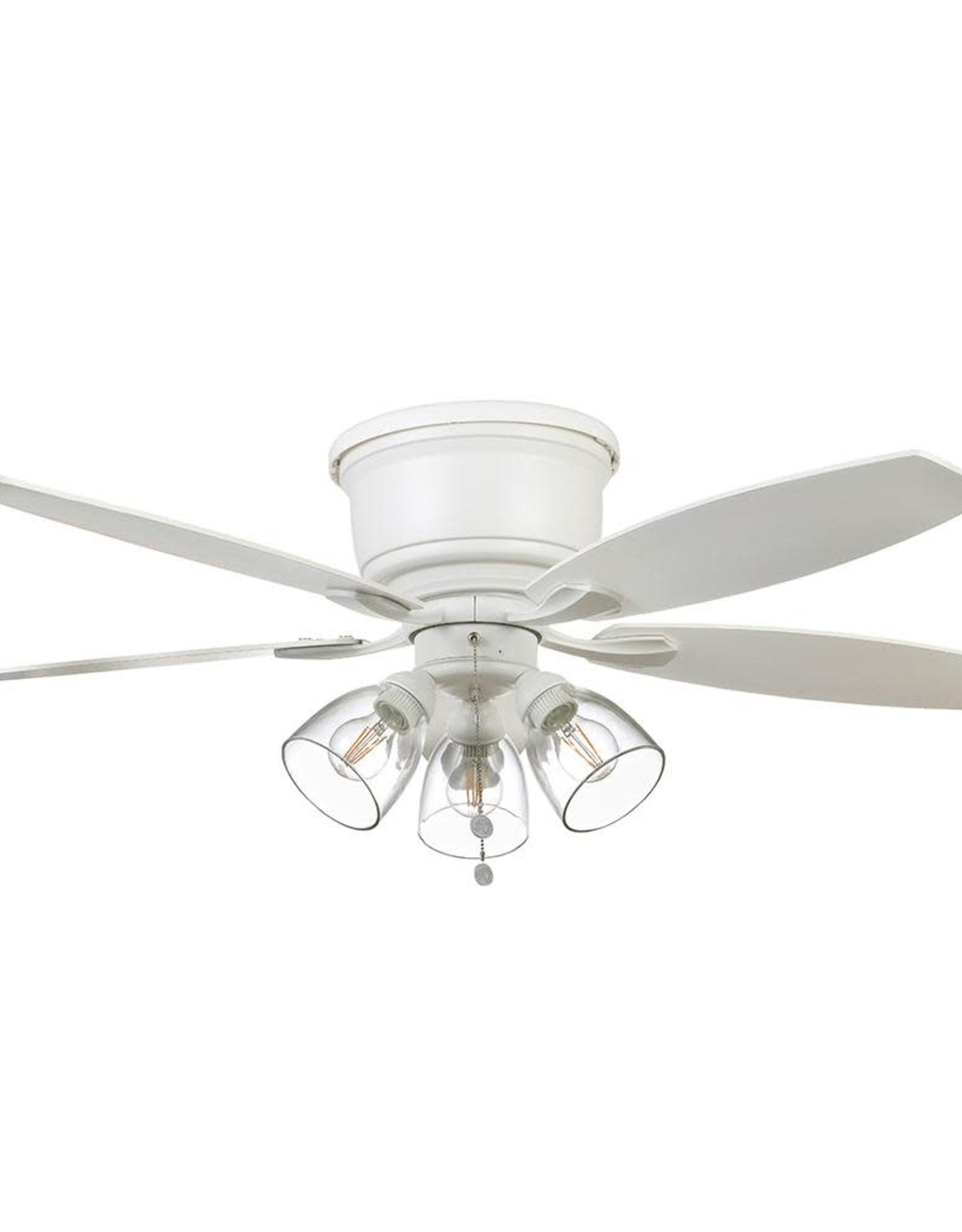 Stoneridge 52 in. Matte White Hugger LED Ceiling Fan with Light Kit