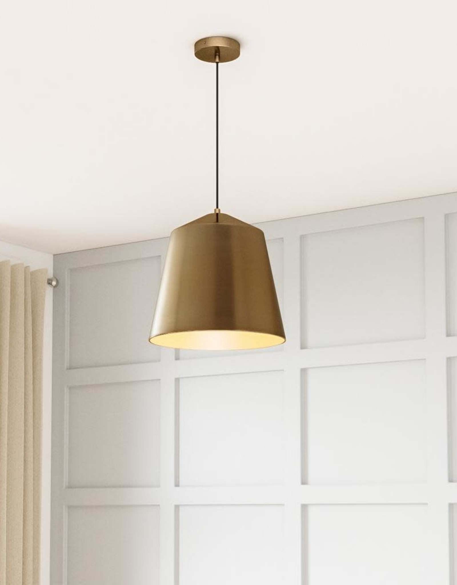 Home Decorators Collection 1-Light Metal Brass