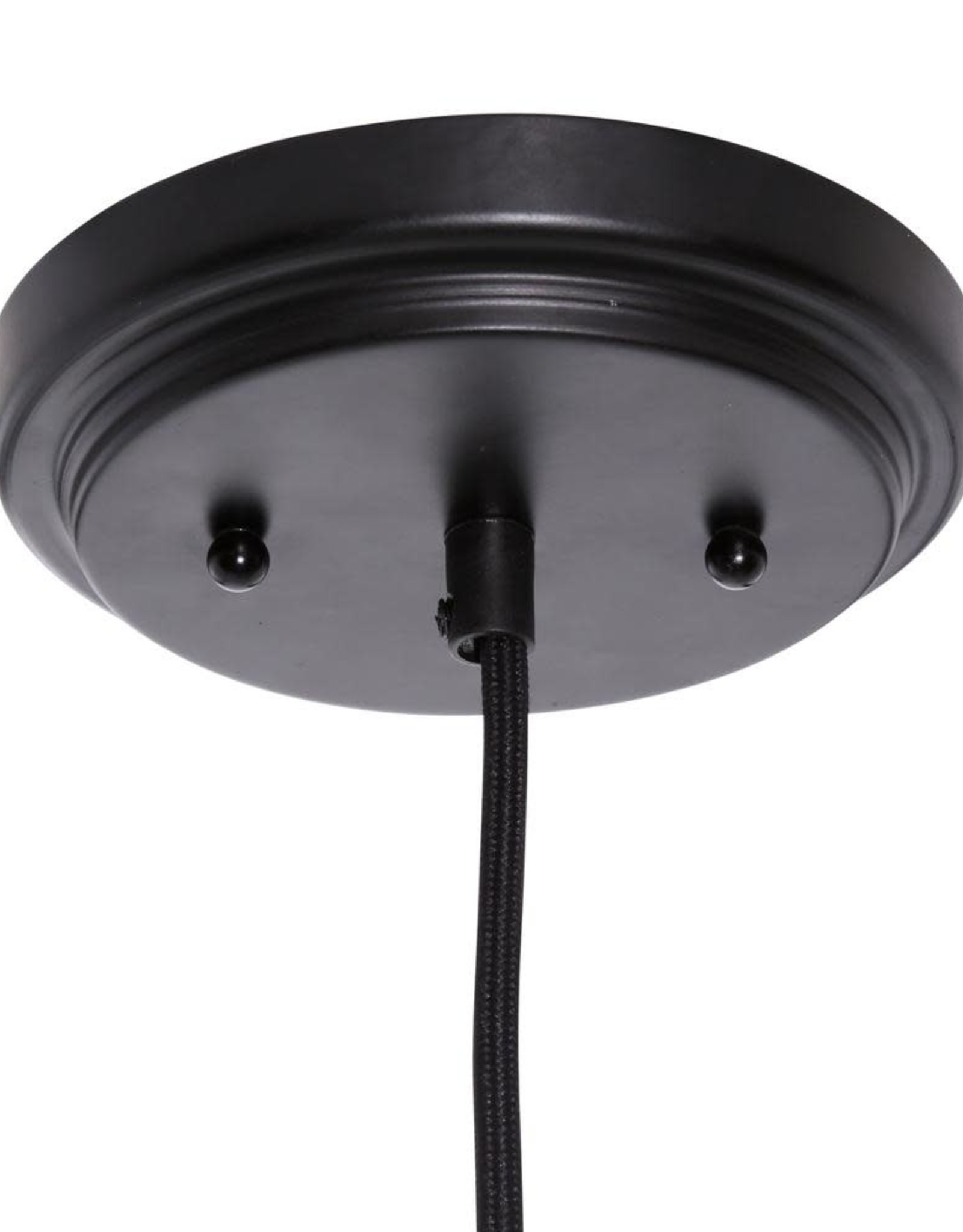1-Light Black Mini Pendant with Smoke Tint Glass Shade by Home Decorators Collection