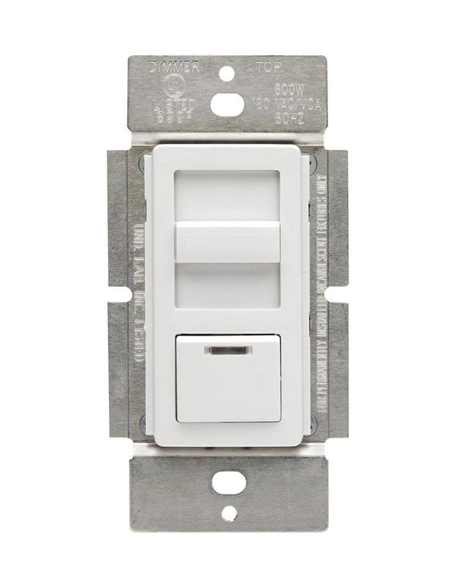 Leviton 1.5-Amp Decora Illumatech Single Pole Step Fan Speed Control With Preset Button, White/ Ivory/ Light Almond