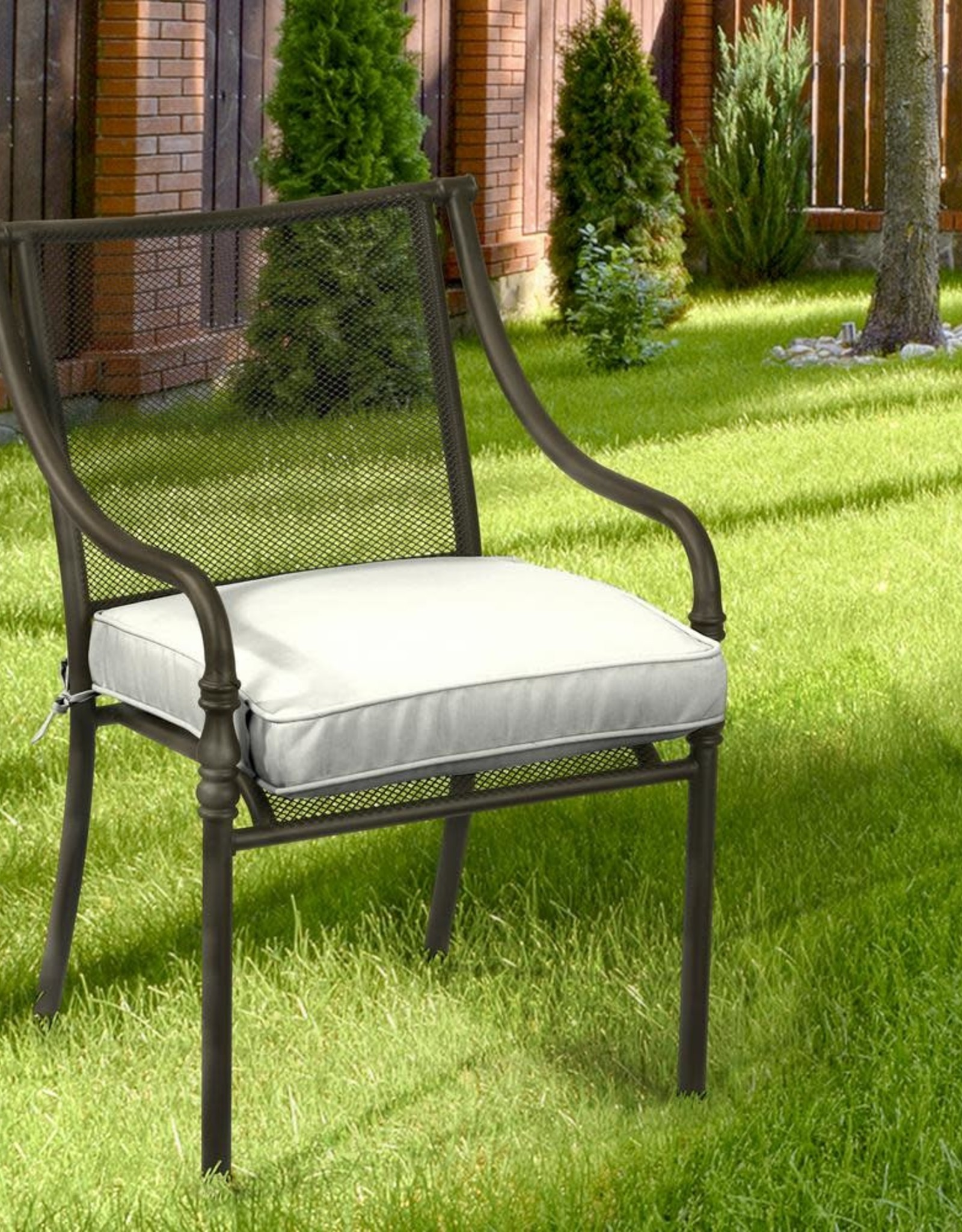 Home Decorators Collection 20 x 20 Sunbrella Canvas White Outdoor Chair Cushion (2-Pack)