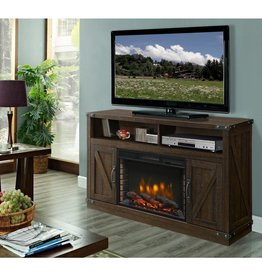 Muskoka Aberfoyle 53 in. Freestanding Electric Fireplace TV Stand in Rustic Brown