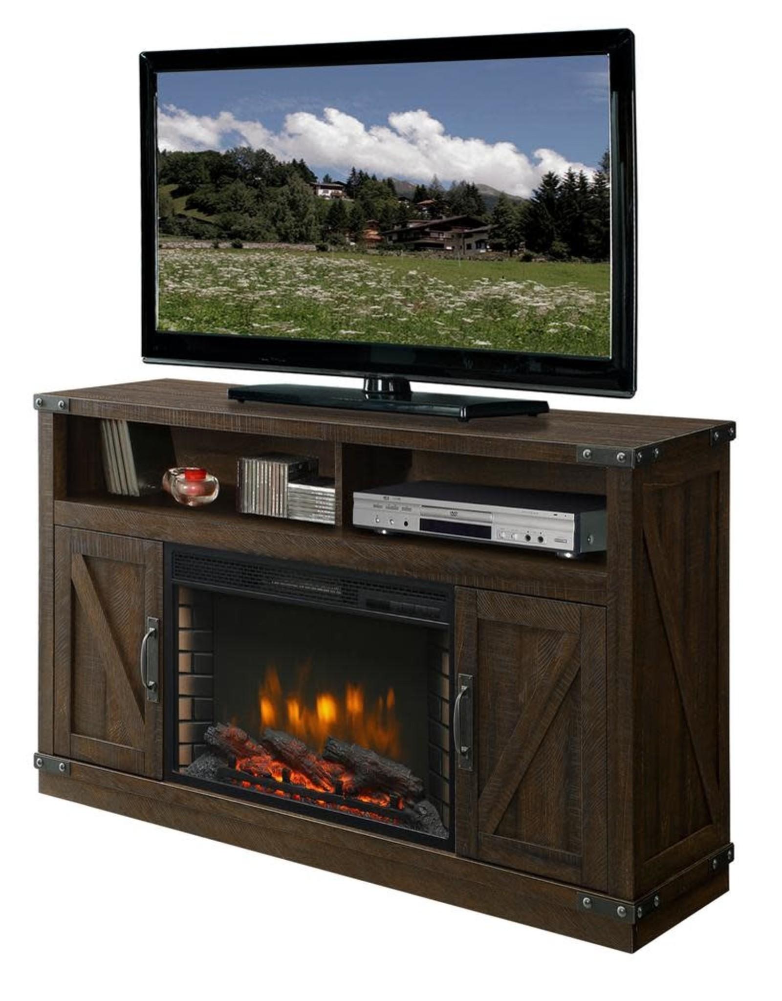 Muskoka Aberfoyle 53 in. Freestanding Electric Fireplace TV Stand in Rustic Brown