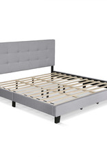 Furrino Laval Glacier King Button Tufted Bed Frame by Furinno