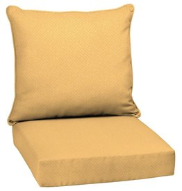 Arden Selections 24 x 24 Shirt Texture 2-Piece Deep Seating Outdoor Lounge Chair Cushion