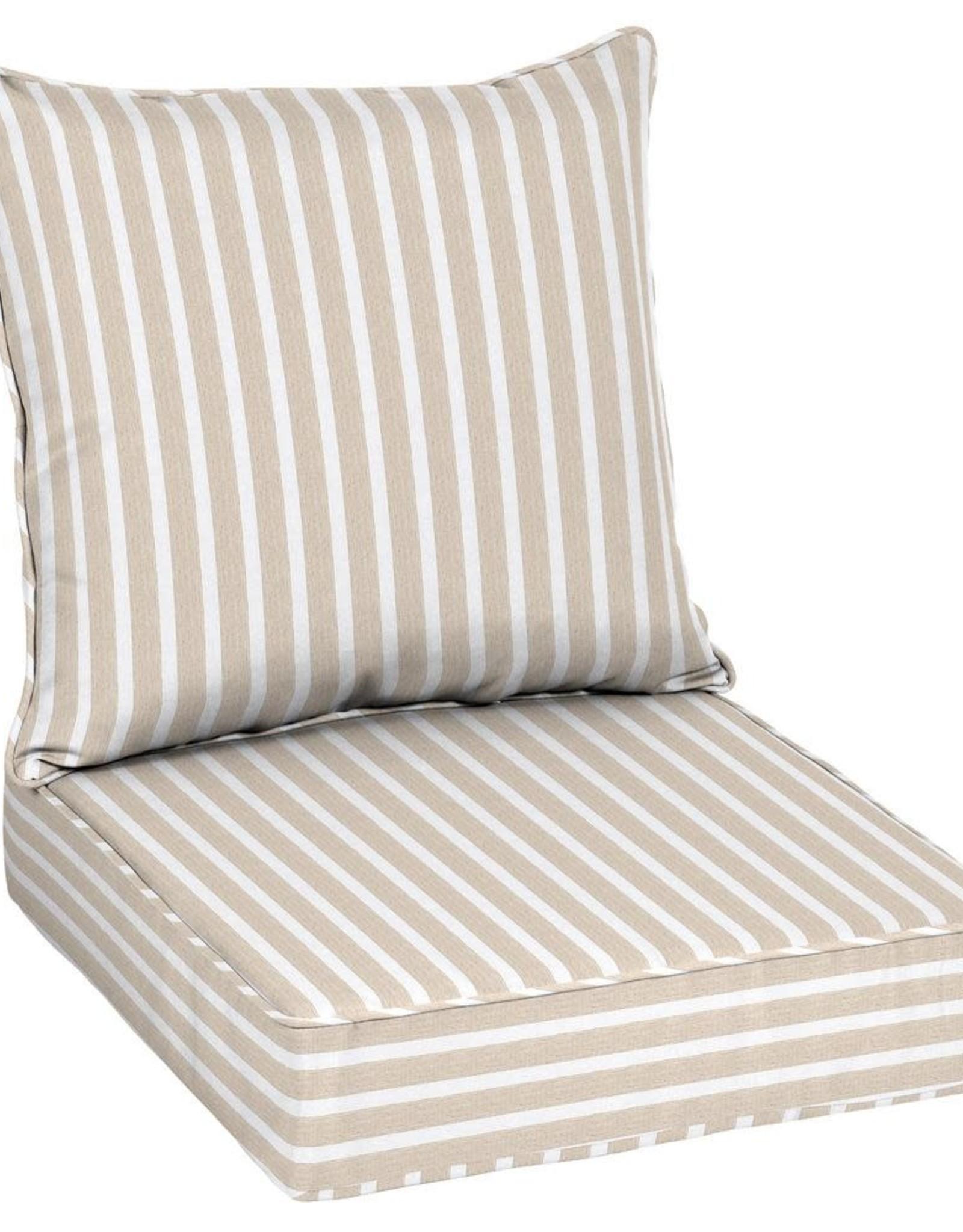 Home Decorators Collection 24 x 24 Sunbrella Shore Linen Deep Seating Outdoor Lounge Chair Cushion