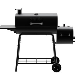 Nexgrill 29 in. Barrel Charcoal Grill/Smoker in Black