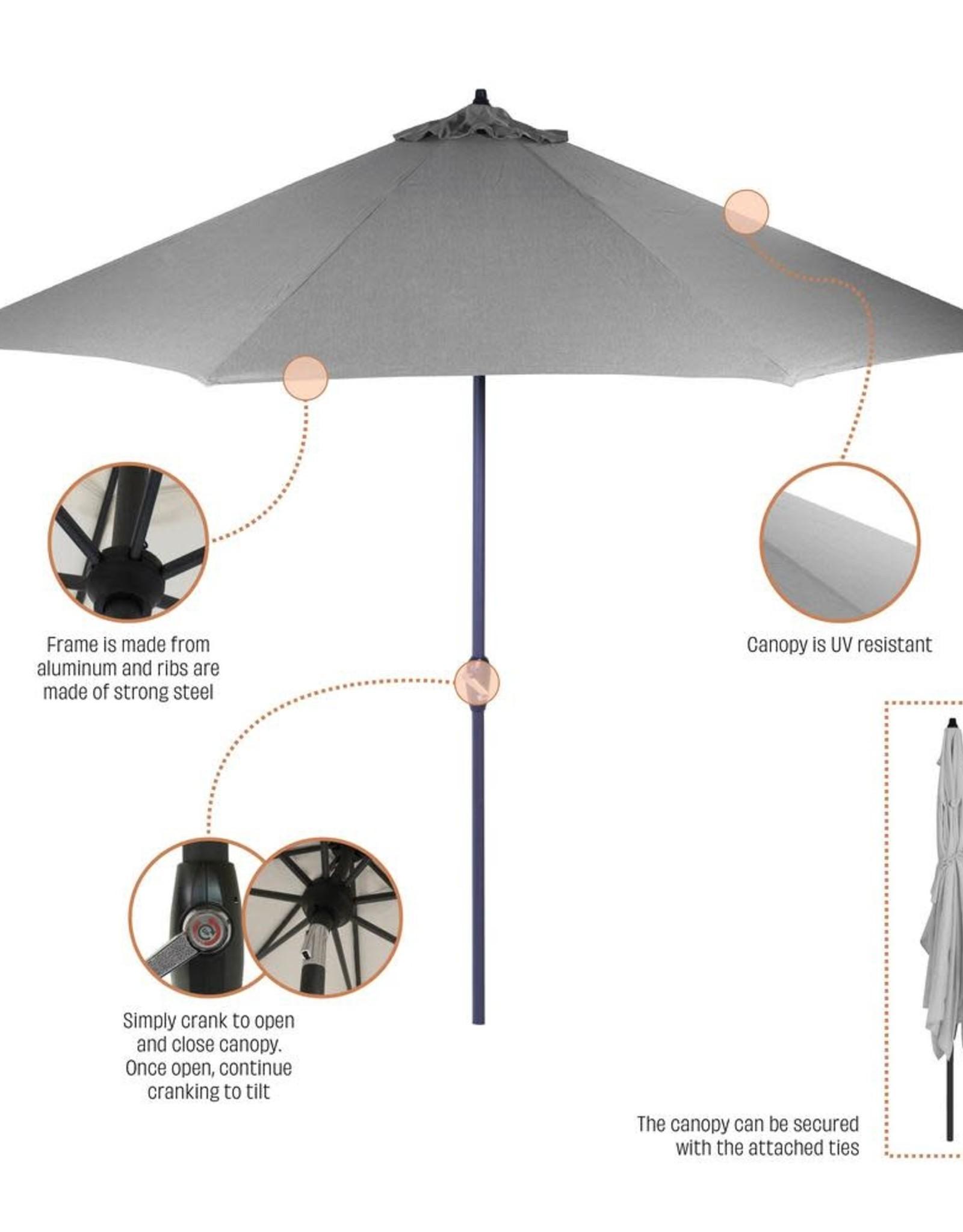 Hampton Bay 10 ft. Aluminum Auto-Tilt Market Outdoor Patio Umbrella in Chili Red