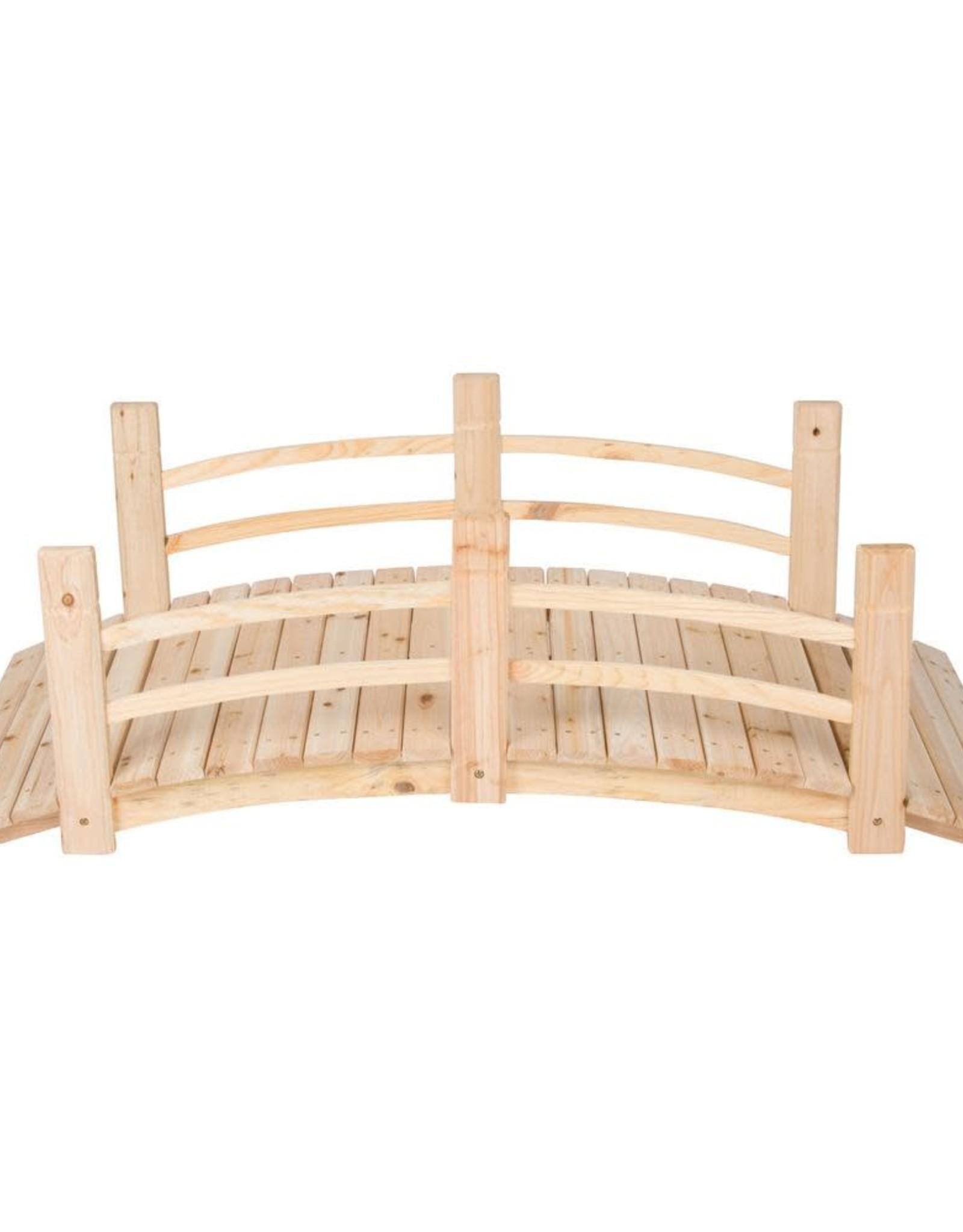 Shine Company 5 ft. Natural Cedar Wood Garden Bridge