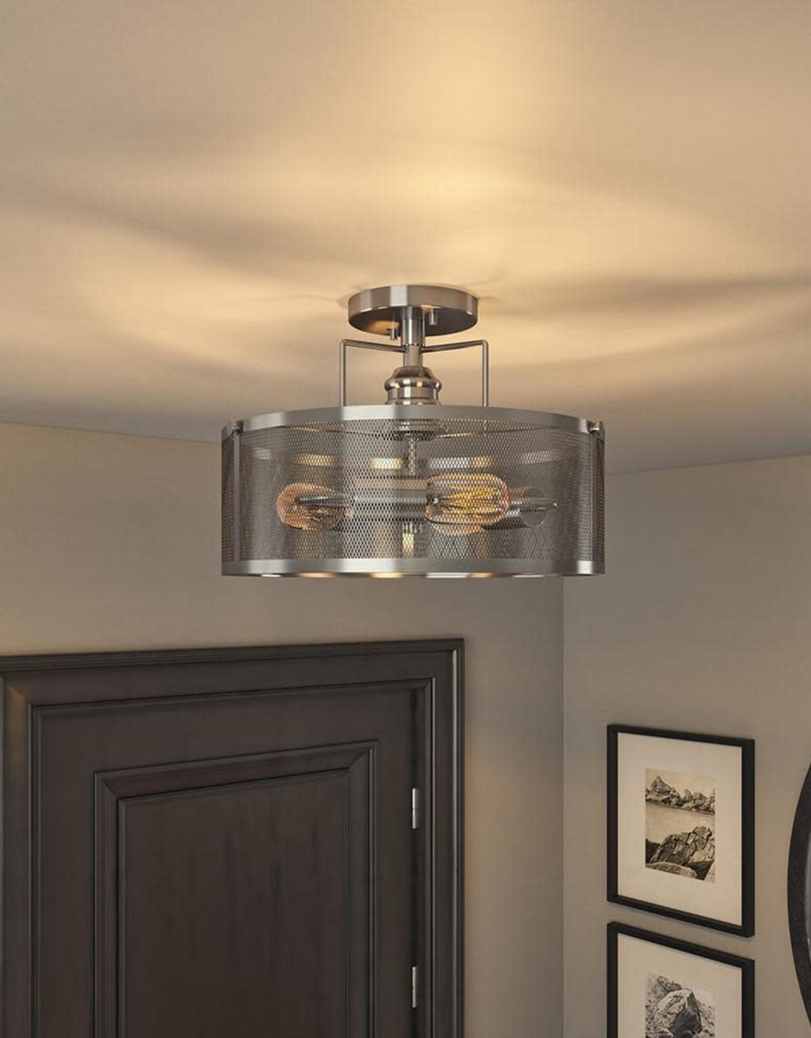 ARTIKA FOR LIVING INC Prelude 3-Light Stainless Steel Flush Mount