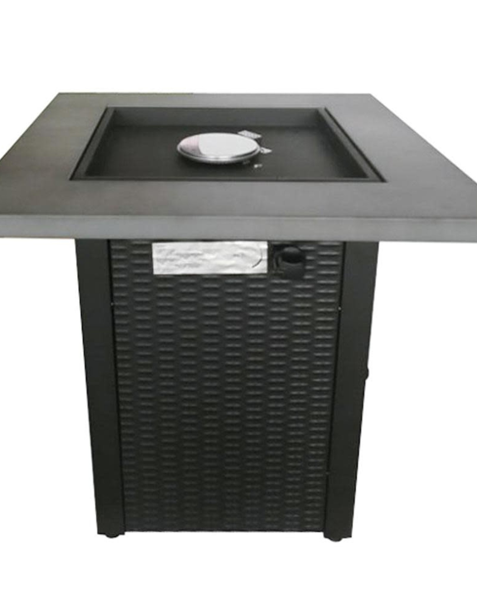 Hampton Bay 28 in. Square Gas Firepit with Concrete Top