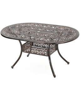 Tucson Copper Oval Aluminum Outdoor Dining Table