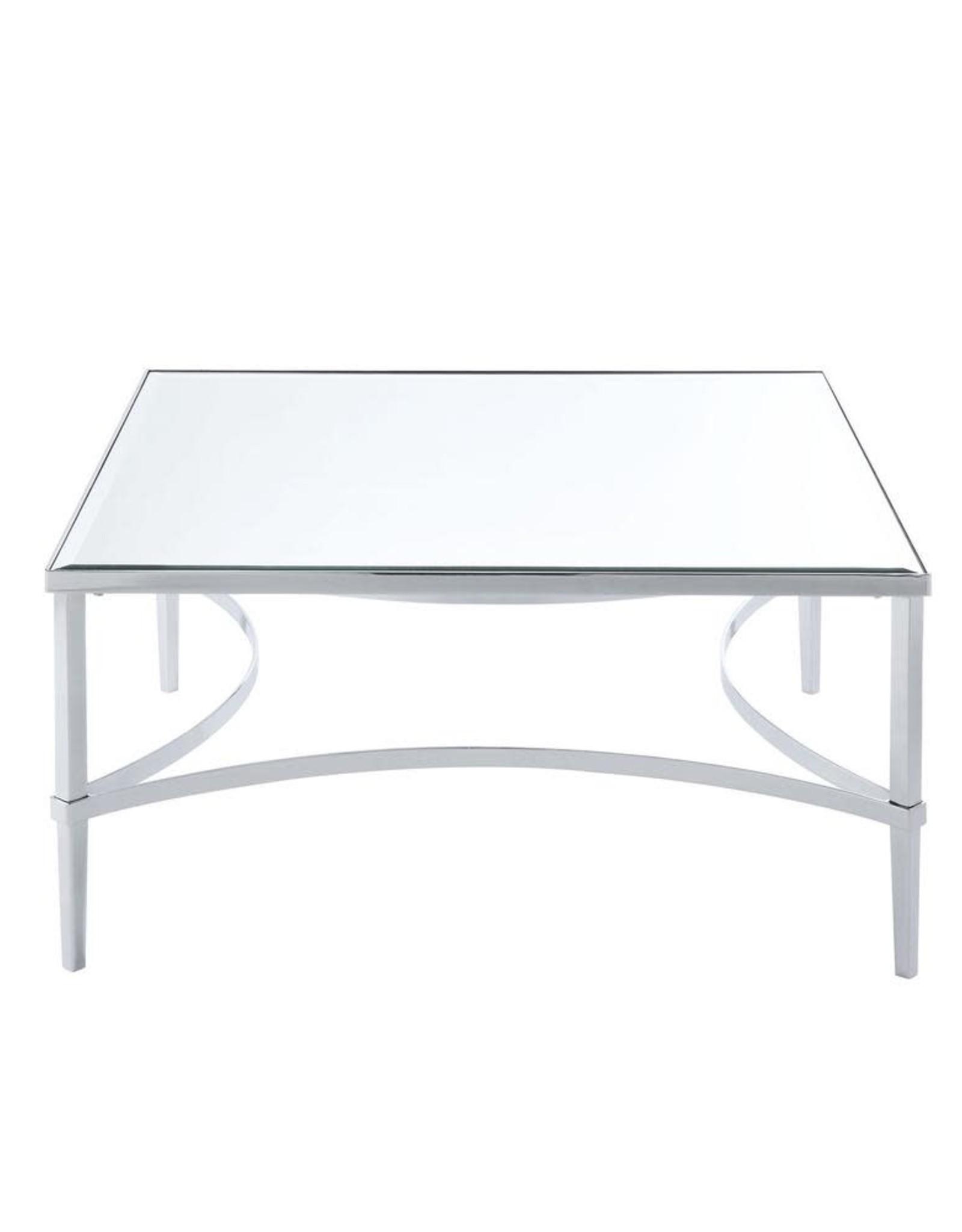 Petunia Chrome and Mirrored Coffee Table