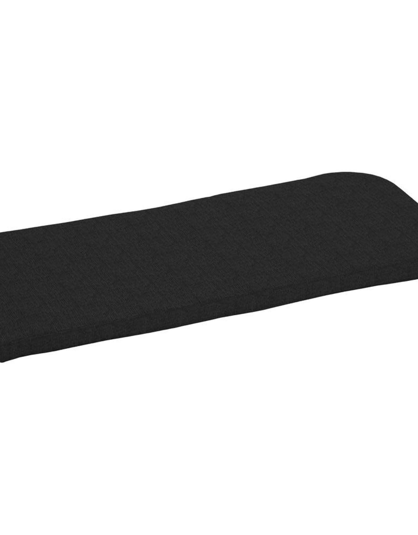 42 x 18 Sunbrella Canvas Black Outdoor Bench Cushion
