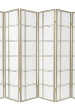 6 ft. Grey Double Cross 6-Panel Room Divider