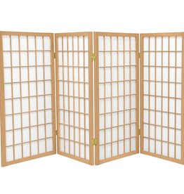 3 ft. Natural 4-Pane Room Divider