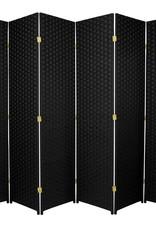 6 ft. Black 6-Panel Room Divider