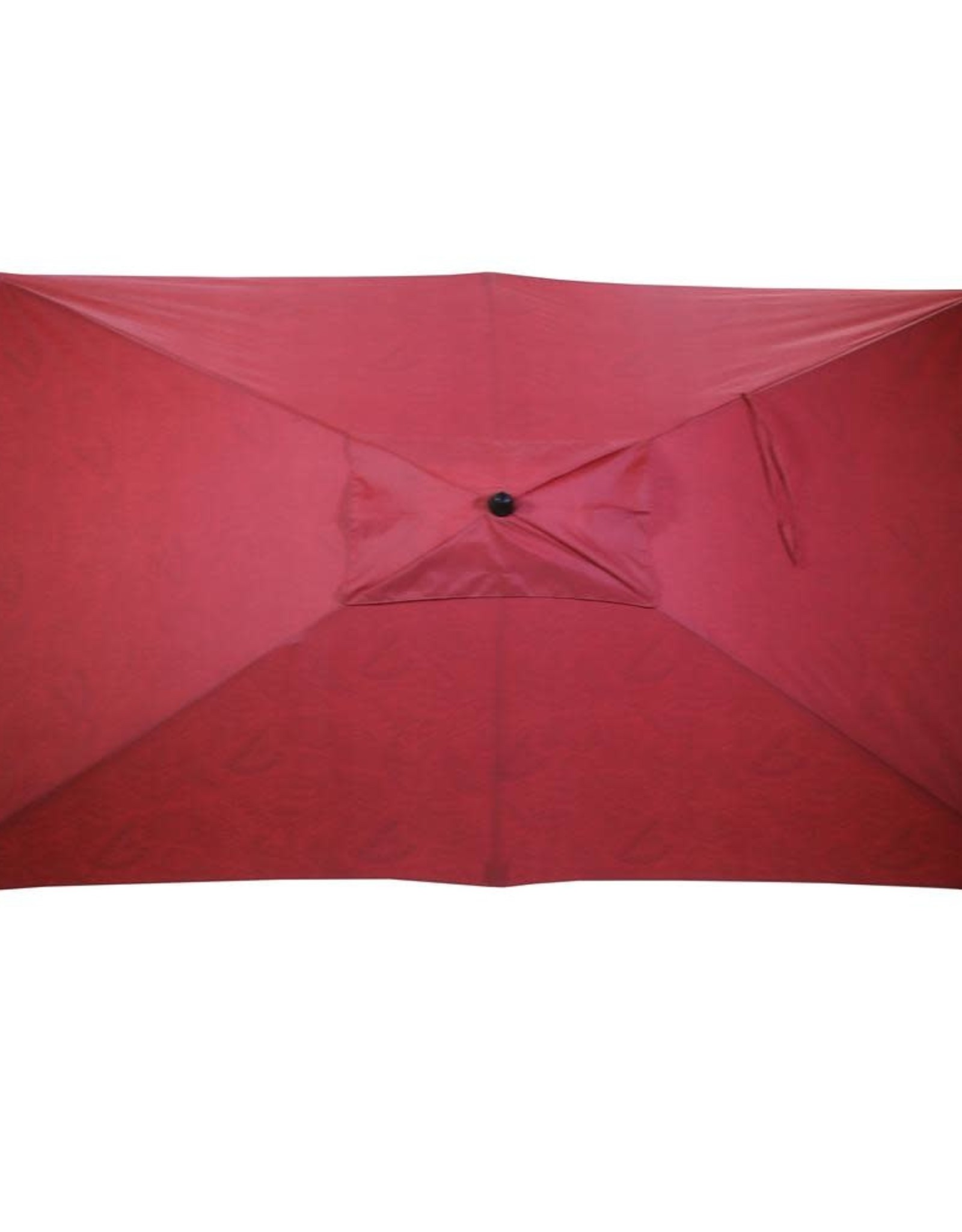 10 ft. x 6 ft. Aluminum Market Patio Umbrella in Chili Paisley with Push-Button Tilt