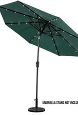 Sun Ray, 9 ft. Market, Solar, Tilt, Round Patio Umbrella in Hunter Green