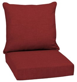 Arden Selections 24 x 24 Ruby Leala Texture 2-Piece Deep Seating Outdoor Lounge Chair Cushion