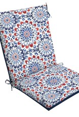 20 x 44 Clark Reversible High Back Outdoor Dining Chair Cushion