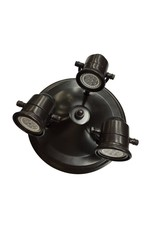 11 in. 3-Light Antique Bronze LED Round Pinhole Fixed Track Fixture