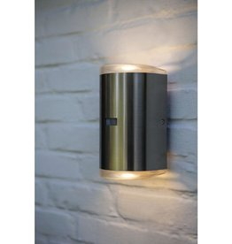 Stainless Steel Outdoor Integrated Wall Lantern Sconce Up/Down Sconce