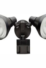 Defiant 180 Degree Black Motion-Sensing Outdoor Security Light