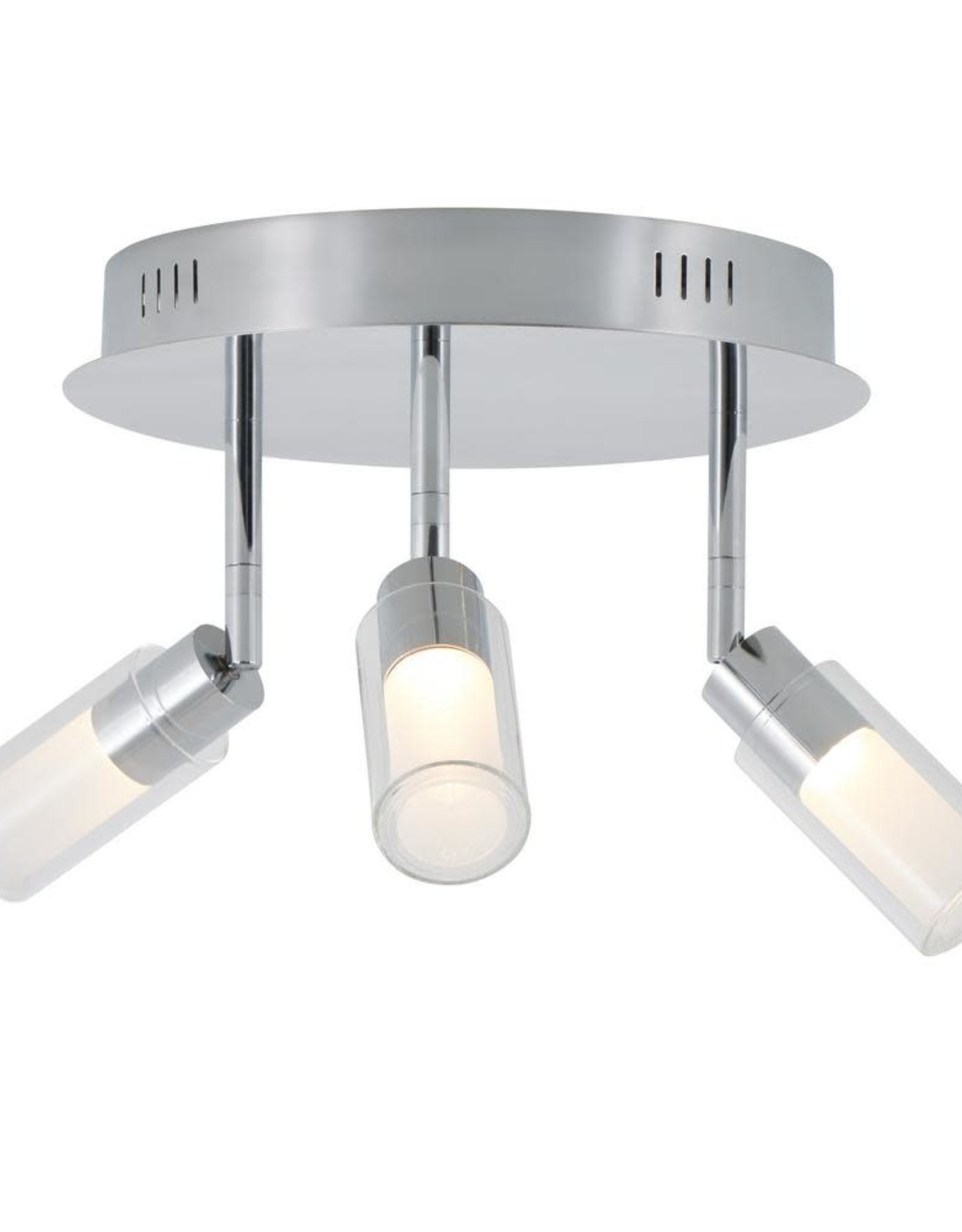 Matrix Sky 10.8 in. 3-Light Chrome LED Semi-Flush Mount