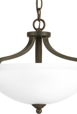 Progress Lighting Laird Collection 2-Light Antique Bronze Semi-Flush Mount