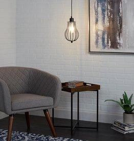 Silverwood Furniture Reimagined Willa 6-Watt Black Metal Integrated LED Pendant