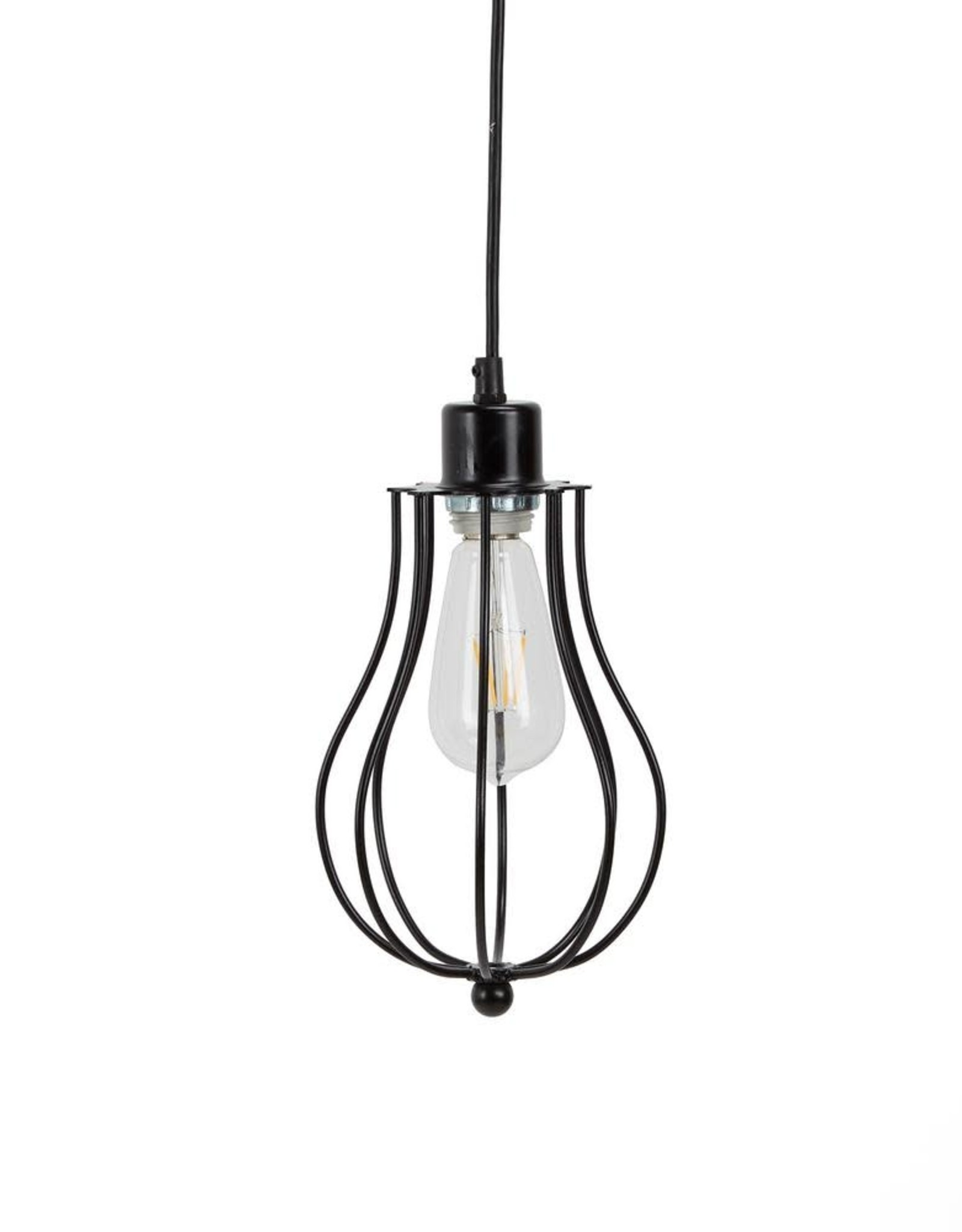 Silverwood Furniture Reimagined Willa 6-Watt Black Metal Integrated LED Pendant