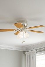 Hampton Bay Whitlock 44 in. LED Indoor Brushed Nickel Ceiling Fan with Light Kit