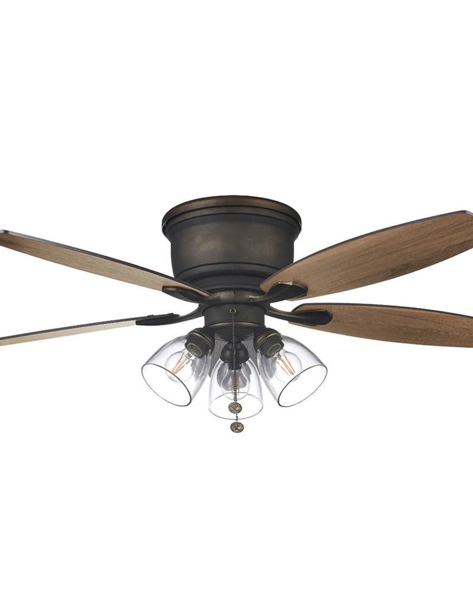Hampton Bay Stoneridge 52 in. Bronze Hugger LED Ceiling Fan with Light Kit