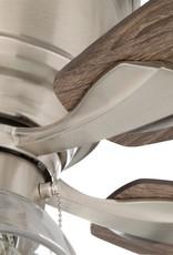 Hampton Bay Stoneridge 52 in. LED Indoor Brushed Nickel Hugger Ceiling Fan with Light Kit
