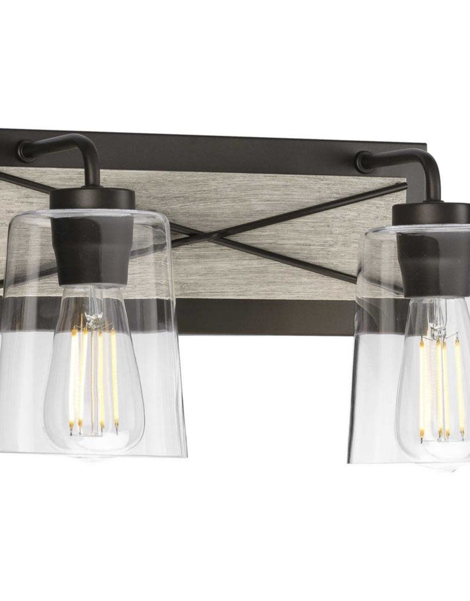 Progress Lighting Briarwood 2-Light Graphite Bath Light