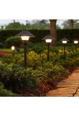 Hampton Bay Low-Voltage Bronze Outdoor Integrated LED Landscape Path Light and Flood Light Kit (8-Pack)