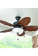 Home Decorators Collection Palm Cove 44 in. LED Indoor/Outdoor Natural Iron Ceiling Fan with Light Kit