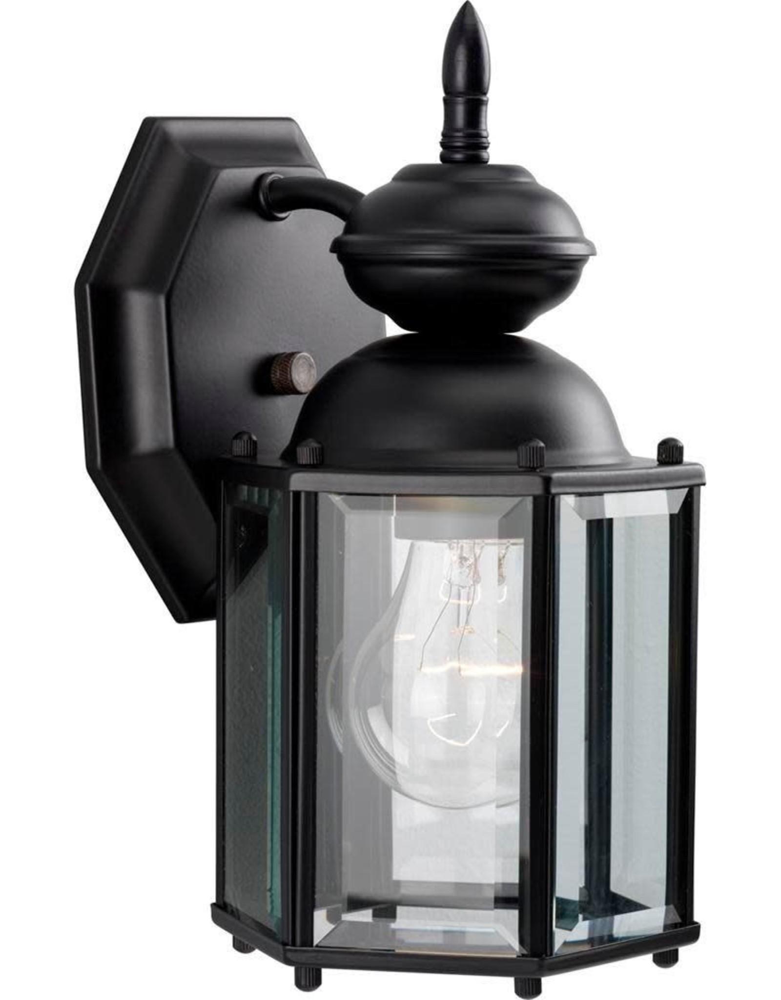 Progress Lighting 1-Light Black 10.25 in. Outdoor Wall Lantern Sconce