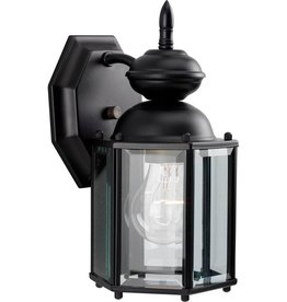 Progress Lighting 1-Light Black 10.25 in. Outdoor Wall Lantern Sconce