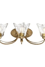 Chatsworth Collection 3-Light Vintage Gold Vanity Light with Clear Glass
