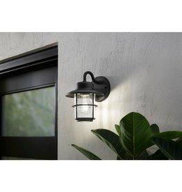 Hampton Bay 1-Light Black Outdoor Wall Lantern Sconce (2-Pack)
