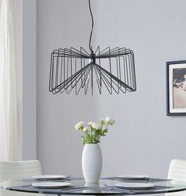 Southern Enterprises Pepe 1-Light Black Pendant Lamp