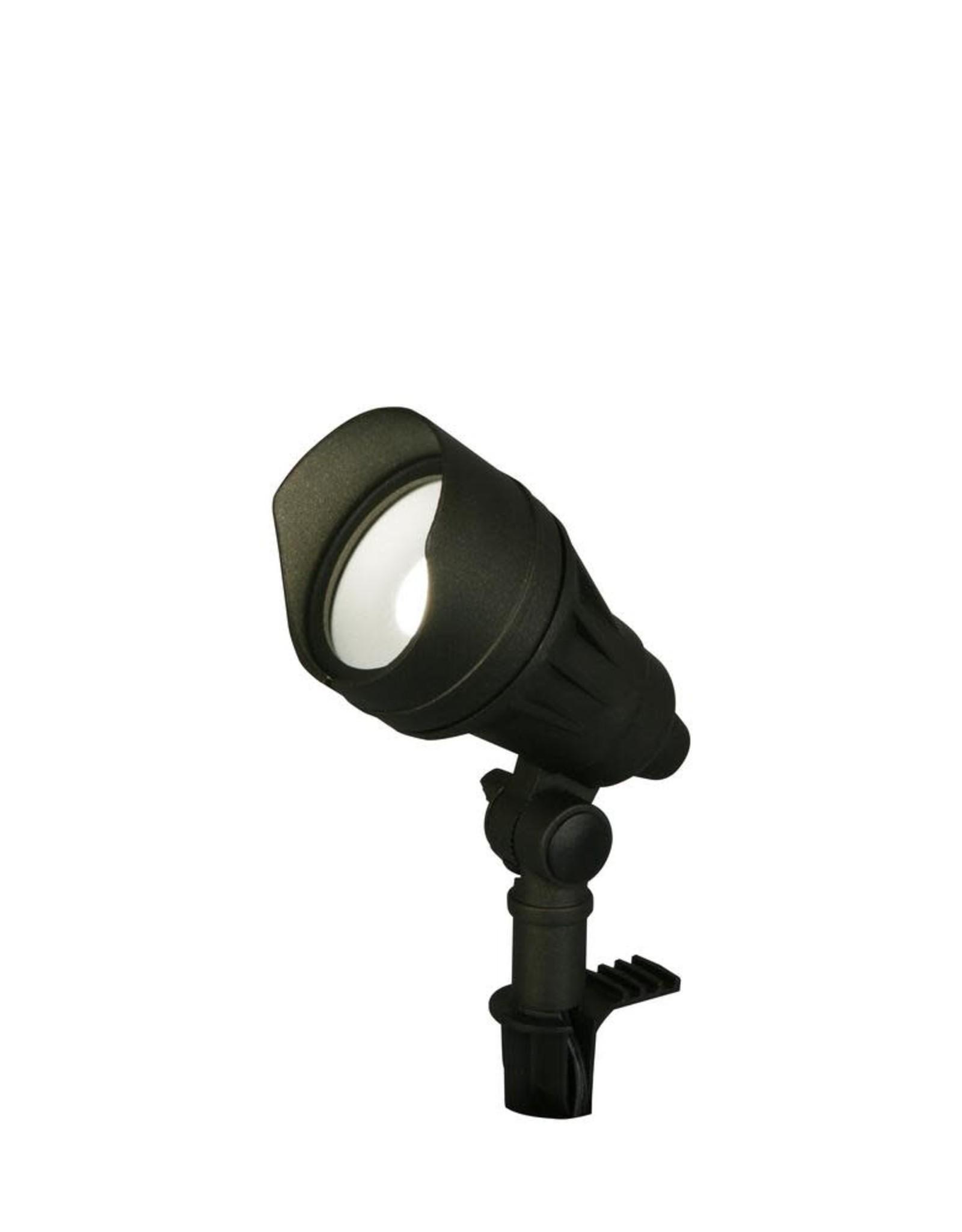 Hampton Bay 9.8-Watt Millennium Black Outdoor Integrated LED Landscape Flood Lights with Adjustable Light Color (8-pack)