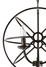 Globe Electric 15 in. 4-Light Dark Bronze Sphere Chandelier