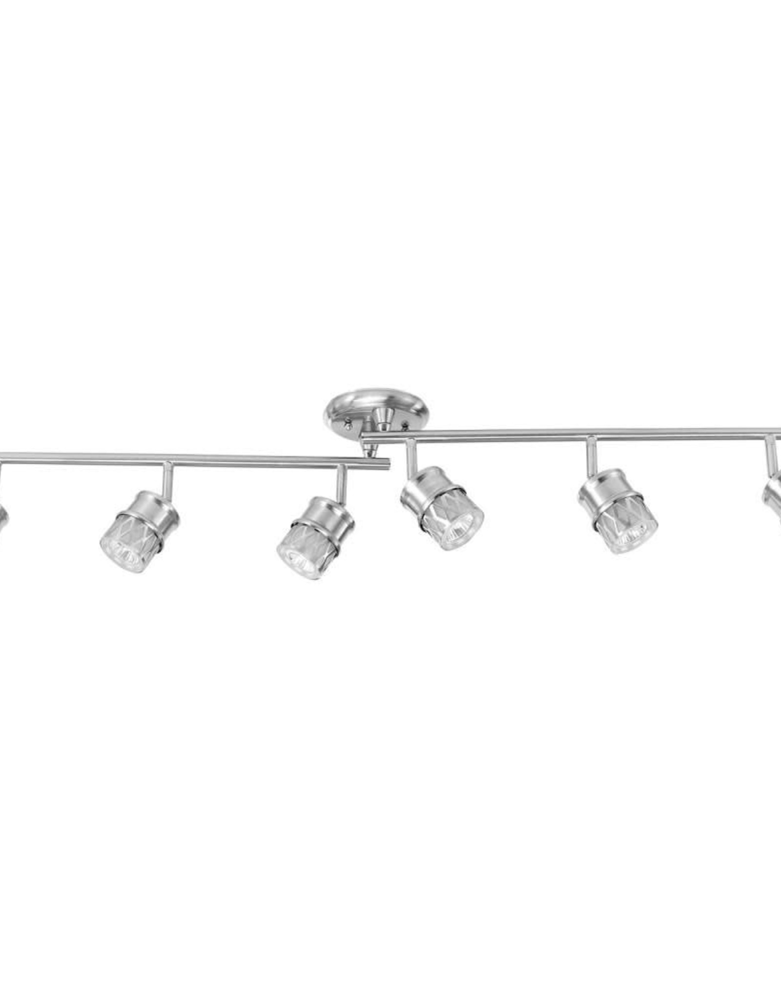 Globe Electric 4 ft. Kearney 6-Light Brushed Nickel Foldable Track Lighting, Bulbs Included