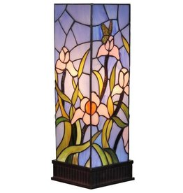 Amora Lighting 16 in. Tiffany Style Floral Table Lamp